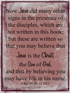 John 20.30-31